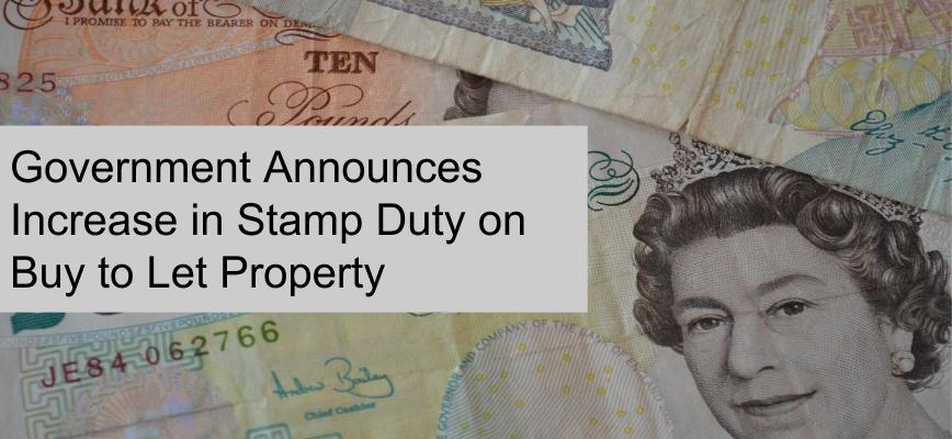 Increase in Stamp Duty on Buy to Let Property