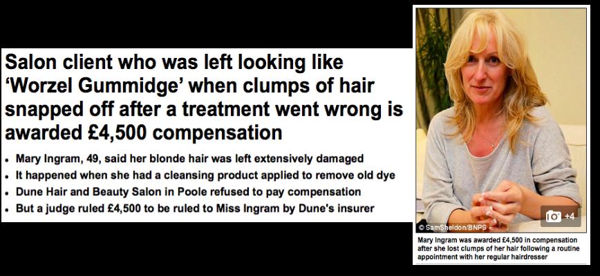 Hair dye damage